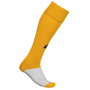Training Socks in yellow and grey with 1 colour print logo