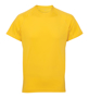 TriDri Panelled Tech Tee in yellow with crew neck
