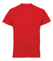 TriDri Panelled Tech Tee in red with crew neck