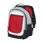 Tumba Backpack in red with black, grey and white details