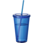 Tumbler with Straw in blue