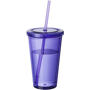 Tumbler with Straw in purple