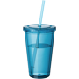 Tumbler with Straw in light blue