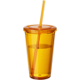 Tumbler with Straw in orange
