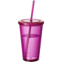 Tumbler with Straw in pink