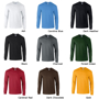 Ultra Soft Adult Long Sleeve T-Shirt with taped crew neck