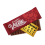 Branded chocolate bar with option golden winning ticket