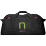 Vancouver Extra Large Travel Bag in black with red details and 3 colour logo