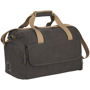 Venture Duffel Bag in charcoal with cream straps side view