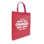 Printed red shopper tote bag