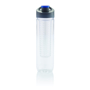 empty water bottle with fruit infuser and blue sip lid