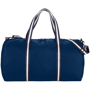 Weekender Duffel Bag in navy with navy and white straps