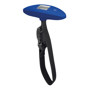 dark blue weight scale with black strap