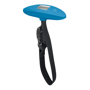 light blue weight scale with black strap
