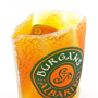 Wine Sleeve Cooler in orange with 3 colour print