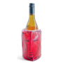 Wine Sleeve Cooler in red with  colour print