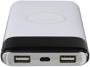 white wireless power bank with led display screen