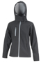 Women's Core Performance Softshell Jacket in black with grey details