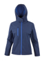 Women's Core Performance Softshell Jacket in navy with blue details