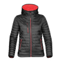 Women's Gravity Thermal Softshell in black with red details
