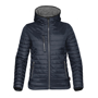 Women's Gravity Thermal Softshell in navy with grey details