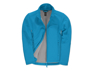 Womens ID 701 Softshell Jacket in blue with full front zip and grey inner fleece