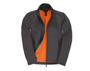 Womens ID 701 Softshell Jacket in grey with full front zip and orange inner fleece