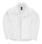 Womens ID 701 Softshell Jacket in white with full front zip and white inner fleece