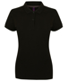 Women's Micro-fine Pique Polo Shirt in black
