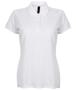 Women's Micro-fine Pique Polo Shirt in white