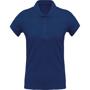 Women's Organic Polo Shirt in blue