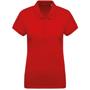 Women's Organic Polo Shirt in red