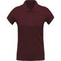 Women's Organic Polo Shirt in burgundy