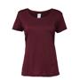 Women's Performance Core T-shirt in burgundy