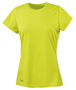 Women's Quick Dry Short Sleeved in lime green