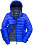 Women's Snow Bird Hooded Jacket in blue with navy lining