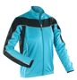 Women's Spiro Long Sleeve Performance Top in blue with black panels and reflective trim