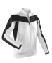 Women's Spiro Long Sleeve Performance Top in white with black panels and reflective trim