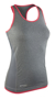 Women's Stringer back top in grey with pink trim