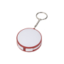 Wrap Around 3-in-1 Charging Cable with Keyring in red and white with cables in