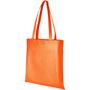 Orange non-woven shopper bag with long handles