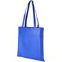 Blue long handled non-woven shopping bag