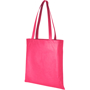 Magenta shopping bag with large branding area