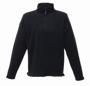 Zip-neck Microfleece in black with 1/4 zip