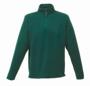 Zip-neck Microfleece in green with 1/4 zip