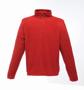 Zip-neck Microfleece in red with 1/4 zip