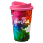 Reusable insulated tumbler with digital wrap print