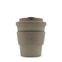 Brown 8oz Ecoffee cup with matching lid and grip