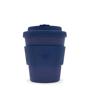 Reusable 8oz ECoffee travel mug in solid navy
