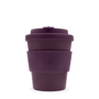 Purple 8oz ecoffee cup with match lid and grip